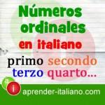Números ordinales en italian