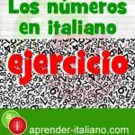 ejercicio numeros en italiano