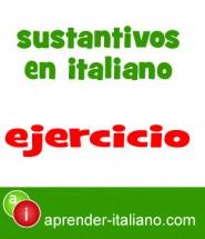 sustantivos- ejercicio en italiano