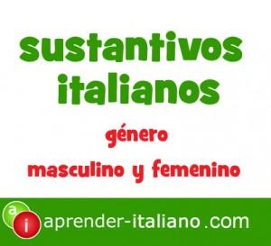 sustantivos italianos