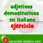 adjetivos demostrativos en italiano
