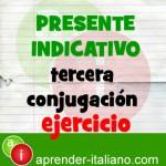 presente de indicativo italiano ejercicio