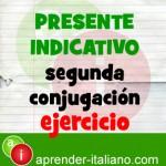 presente indicativo italiano ejercicio