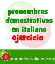 pronombres demostrativos en italiano