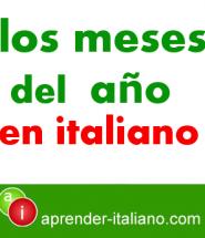 los meses del año en italiano